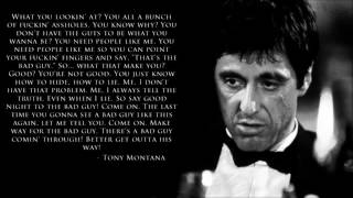 Tony Montana Quote/Speech