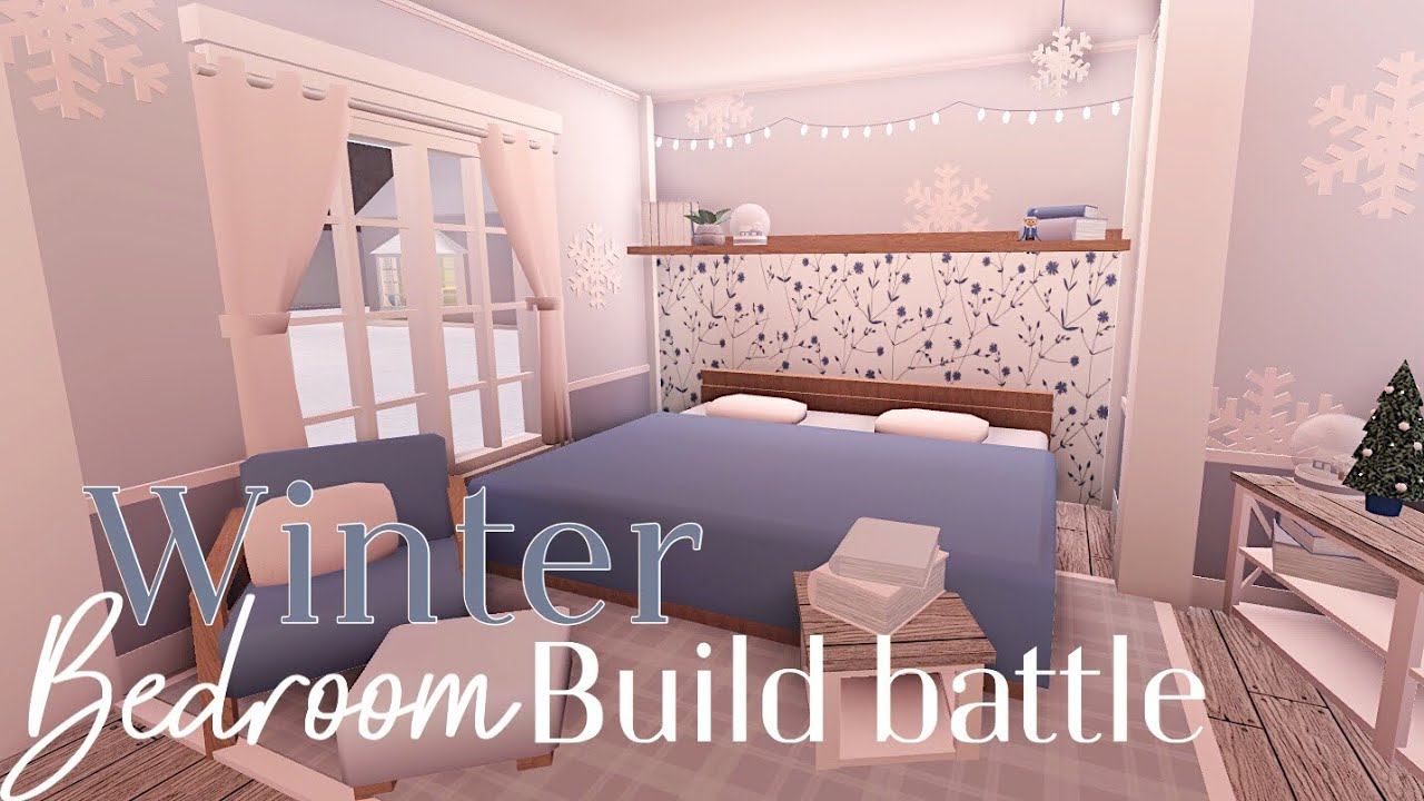 Bloxburg:Winter Bedroom Build Battle (With Fans!!)1K Special - YouTube