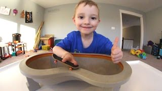 Father & Son GET FUN NEW FINGERBOARD POOL!
