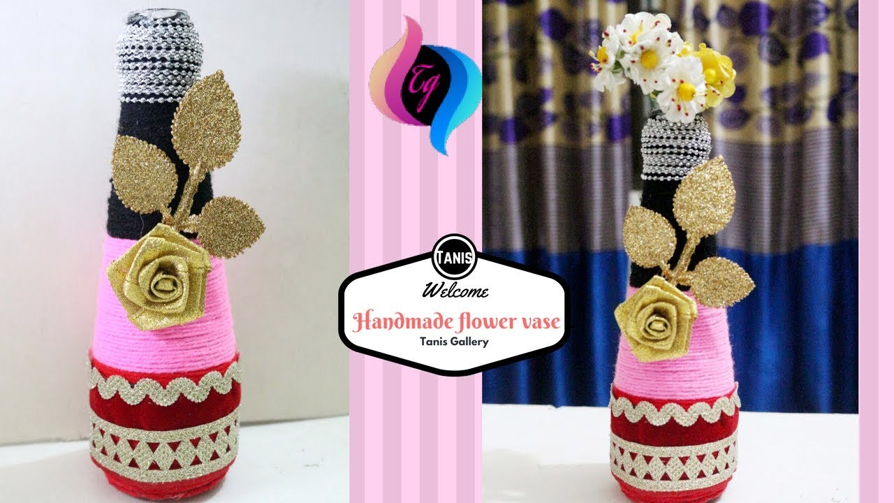 How to make flower vase with waste material creative for Creative things to put in vases