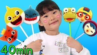 40분 라임튜브 상어가족 웃긴영상 베스트 영상모음 LimeTube toy review