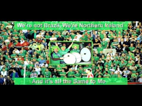 2016 We're Not Brazil We're Northern Ireland 2016 - Lyrics on Screen