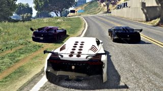 GTA 5 Online Race Full Gameplay (GTA V PC Super Cars Race)