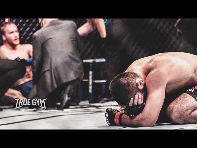 Хабиб заплакал после боя с Гэтжи / Ушел из UFC / Слова после боя на UFC 254