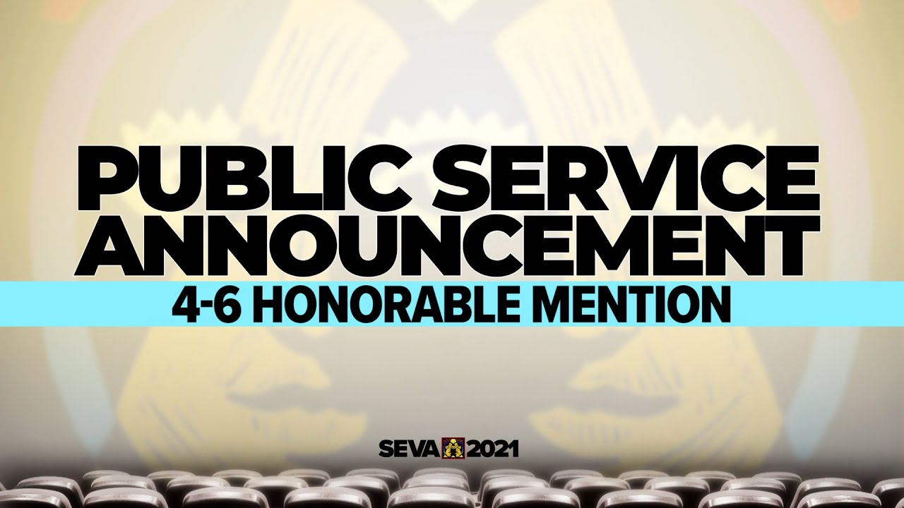SEVA 2021: PSA 4-6 Honorable Mention – Reduce, Reuse, Recycle PSA