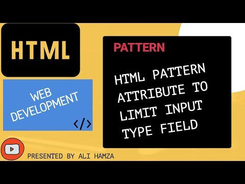 HTML Hacks-PATTERN Attribute To Limit The Value In Input Type Field?