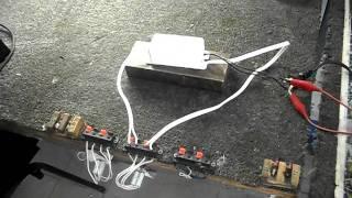 Balastro Electrónico Velalux Mod. 1AF1540 Prueba 1. Arranque 1V hasta 200V