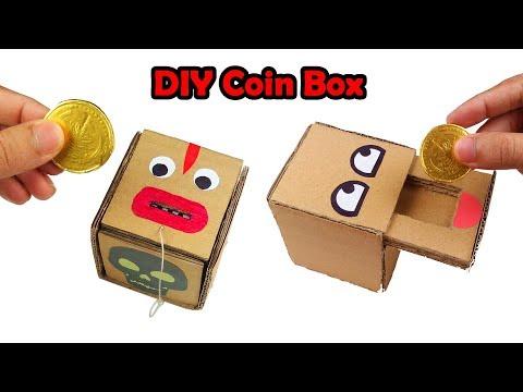 How to Make 2 Amazing Coin Bank Box - DIY Coin Box