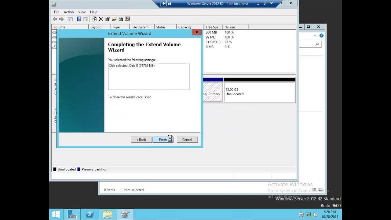 DROPS - Windows Server 2012 R2 - VHD Online Resize