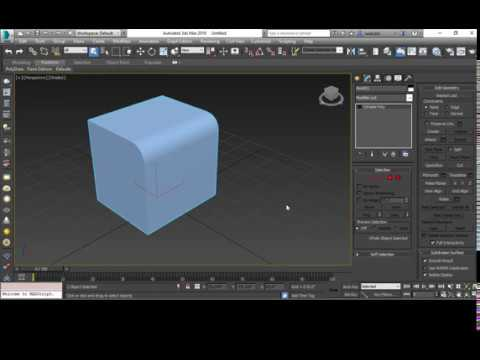 Fillet And Chamfer In 3ds Max Youtube