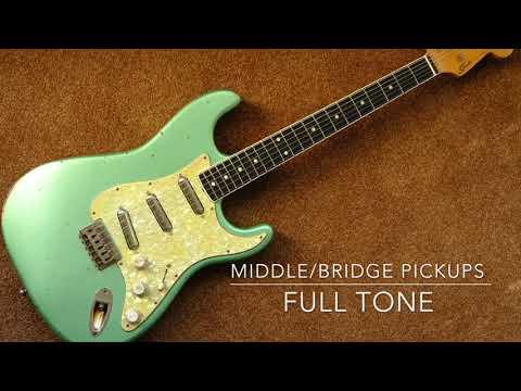 Allparts MIJ Stratocaster Hardtail 2018 Bound Neck 6 Way Varitone 7 on