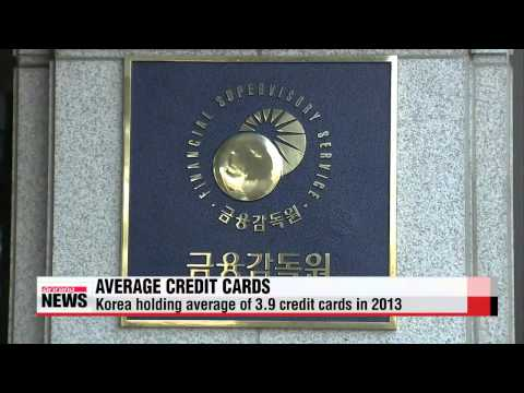 Koreans Hold Credit Cards On Average