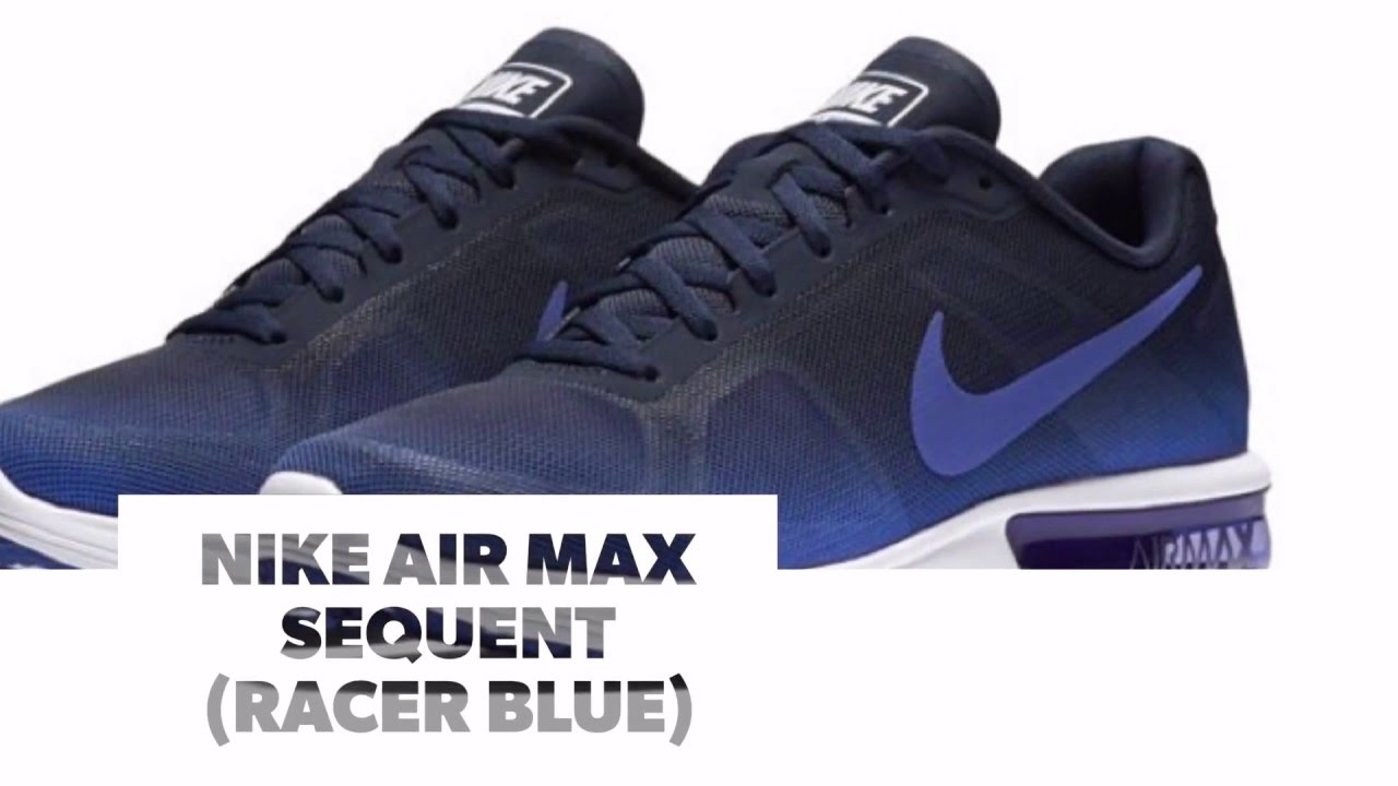 nike air max sequent racer blue s sneakers youtube. Black Bedroom Furniture Sets. Home Design Ideas