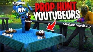 Gros Prop Hunt avec 10 Youtubeurs sur Fortnite Créatif !