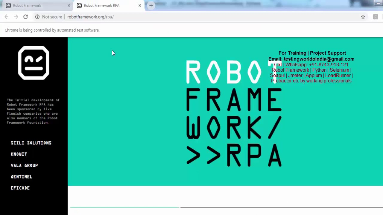 Robot Framework: Multi Window Handling - Handle Tabs[Call/WtsAp:  +91-8743913121 Buy Full Course]