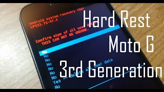 Motorola Moto G/G2/G3/G4/G5/E2/X2/X Play hard reset 3rd/2nd/1st generation XT 1550 hard reset