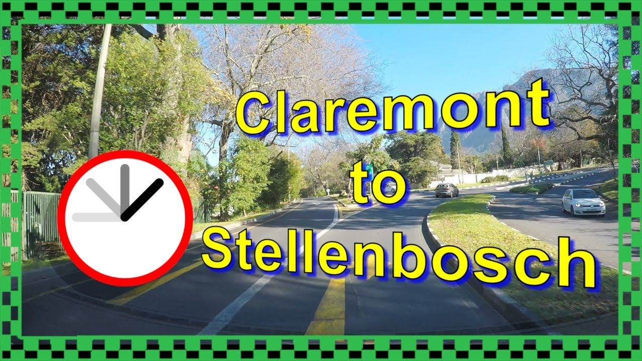 Driving from Claremont to Stellenbosch - Time-lapse - Cape Town Traffic South Africa