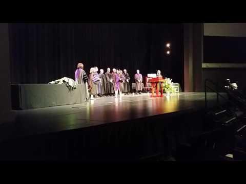 Alyca Riley Baylor Juris Doctoral Graduation walk