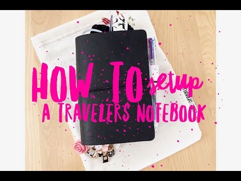 How To Setup A Travelers Notebook- For Beginners!
