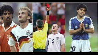 Самые известные удаления в истории Чемпионатов Мира(Красные карточки, которые были показаны на чемпионатах мира величайшим игрокам своего времени и которые..., 2016-07-07T16:48:45.000Z)