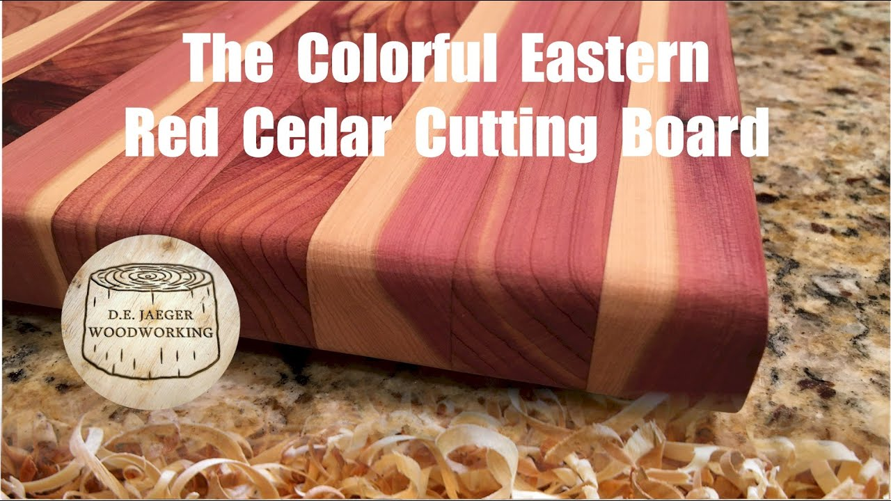The Colorful Eastern Red Cedar Cutting Board Youtube
