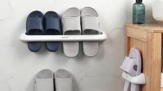티에프굿즈 무타공 라운딩 욕실화 욕실 슬리퍼 걸이