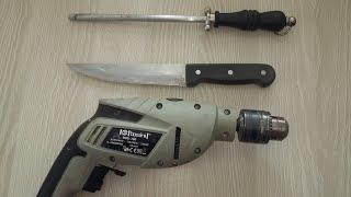 Evde matkap ile jilet gibi keskin bıçak bileme yöntemi
