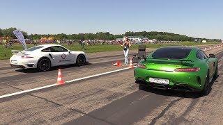 Mercedes-AMG GT-R vs Porsche 991 Turbo S