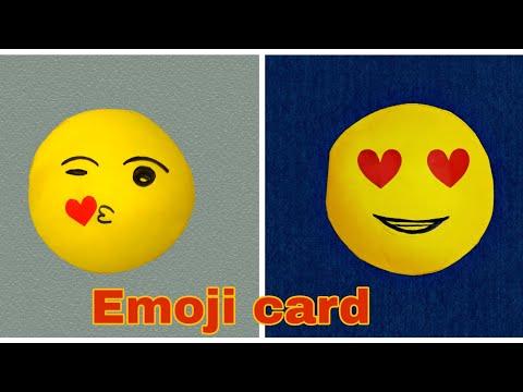 Cute emoji card for valentines day diy emoji craft ideas fun paper crafts for valentines day