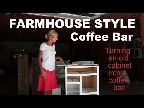 Farmhouse Style Coffee Bar Cabinet