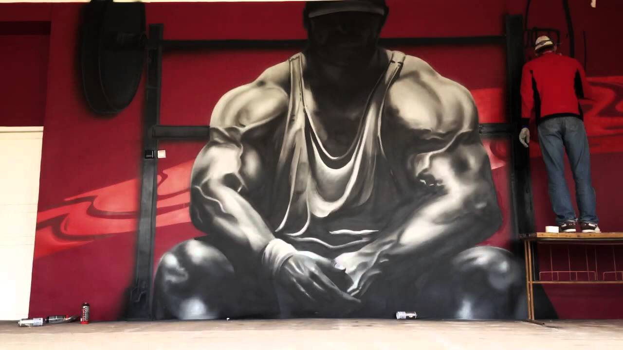 Bozik The Gym Graffiti Design 2 Youtube