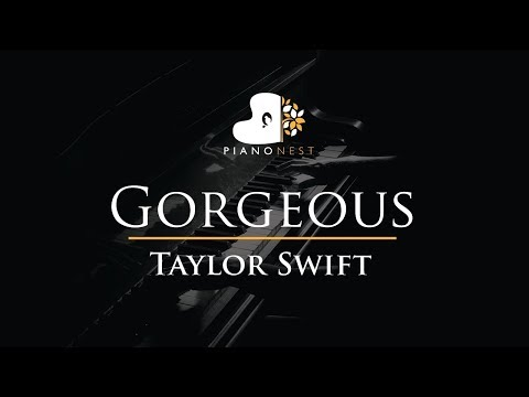 Taylor Swift - Gorgeous - Piano Karaoke / Sing Along / Cover with Lyrics