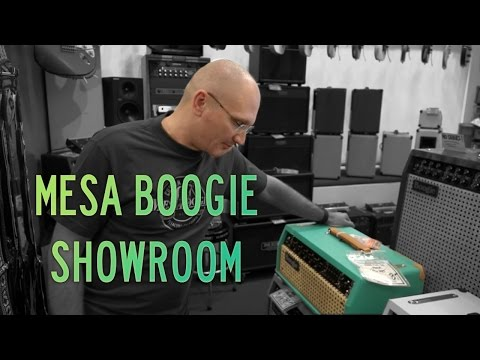 At the Mesa Boogie Showroom in Los Angeles