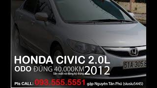 Honda Civic bản 2.0L 2012 (bản cao nhất), còn như mới