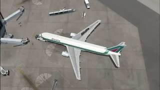 Flight Simulator 2004 Boston to Rome by Alitalia
