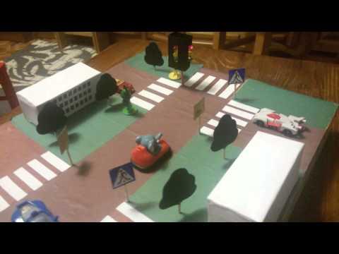 Макет в детский сад по безопасности дорожного движения