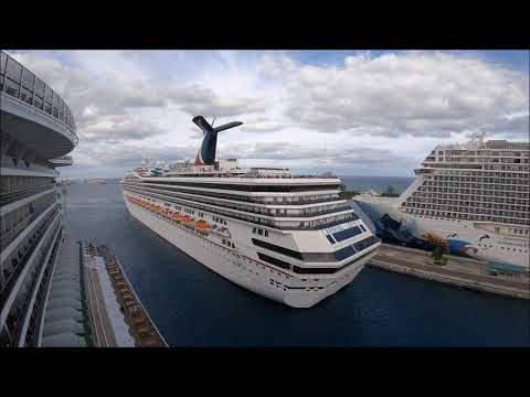 Time lapse:  Carnival Liberty Arrives In Nassau