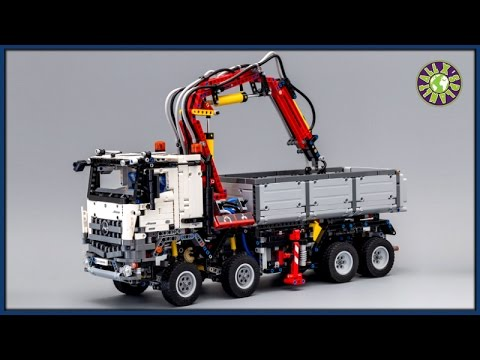 lego mercedes arocs 3245 with pneumatic system stop motion. Black Bedroom Furniture Sets. Home Design Ideas