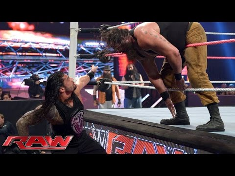 Braun Strowman and Roman reigns sign their WWE raw contract | Raw, Feb. 27, 2017