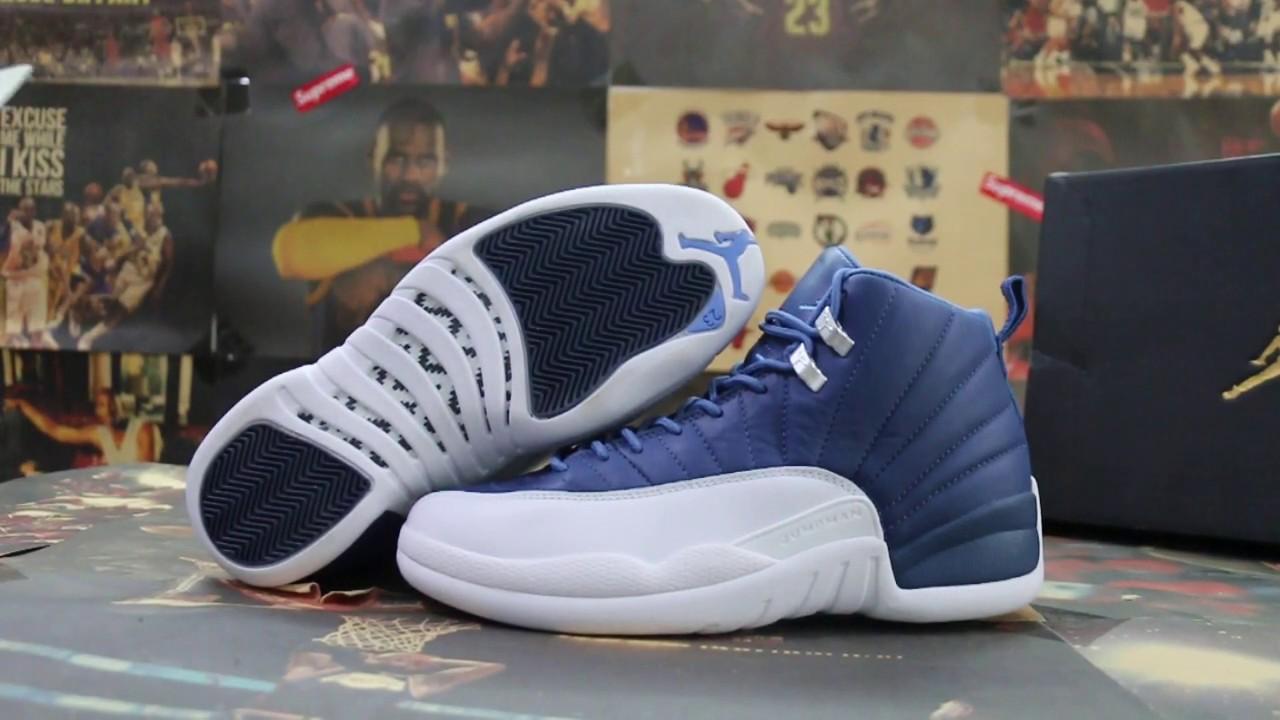 Air Jordan 12 Stone Blue Detailed Look Price Release Date