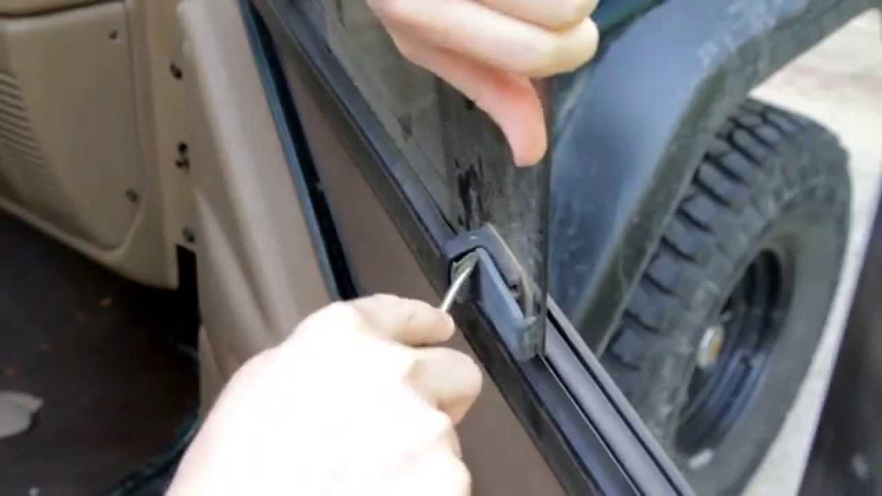 How To Repair Jeep Wrangler Upper Sliding Window Latch