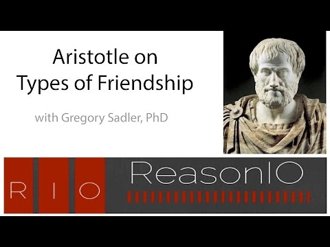 April 2017 Webinar - Aristotle on Types of Friendship