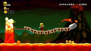 New Super Mario Bros Wii - Lava Overworld Theme but its Roblox death sound