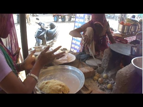 Cooking ( Rajasthani Dal Bati ) Food On Ash - Primitive Technology In Indian Village