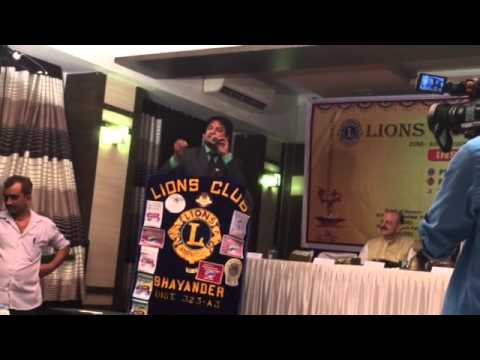 "Deepak Parmar ""s  Speech at Lion's Club of Bhayanadar Oath Ceremony Programme as a Secretay"