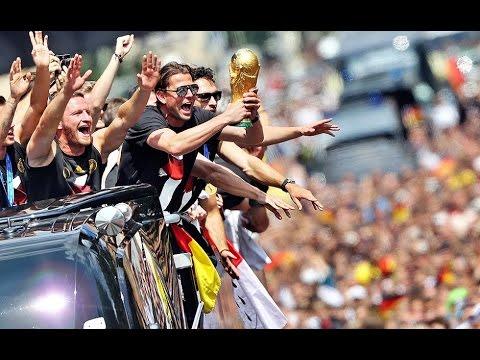 Brazil World Cup 2014-Germany-Ghana 2-2-Super Deutschland fans shaking up Brazil-buses 1'st