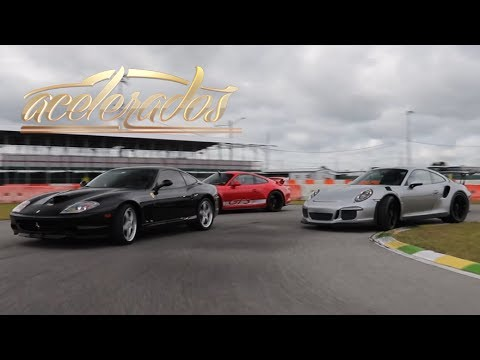 FERRARI 575 M MARANELLO x PORSCHE GT3 x GT3 RS - VOLTA RÁPIDA #106   ACELERADOS