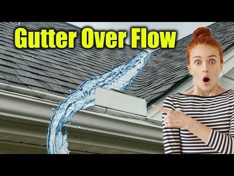 Water Flowing Over Gutters - Gutter Guard Overflow