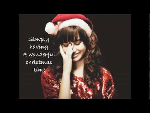 Demi Lovato - Wonderful Christmas Time // Lyrics
