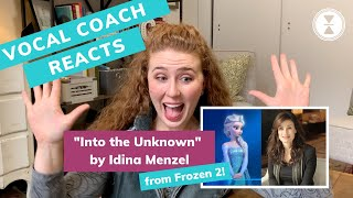 Into the Unknown IDINA MENZEL, Vocal Coach Reacts! Frozen 2